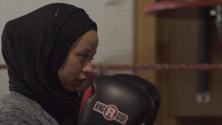 Desafios de uma boxeadora muçulmana