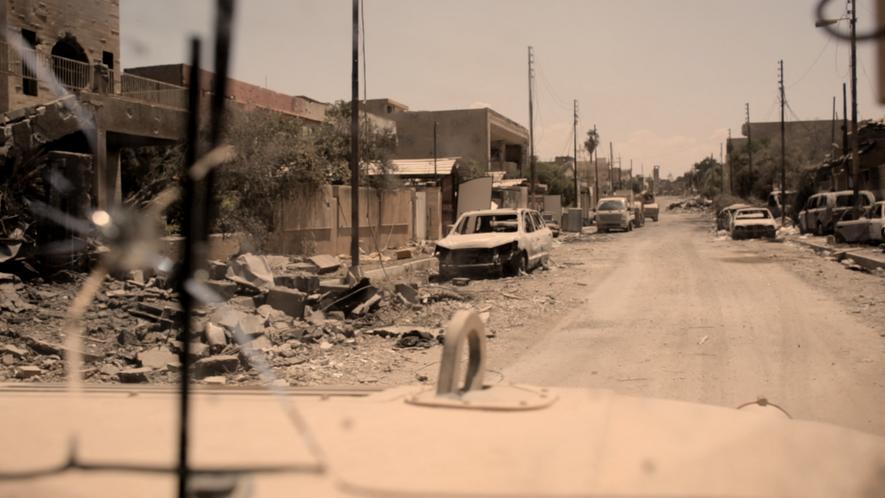O cotidiano da cobertura de guerra em Mossul