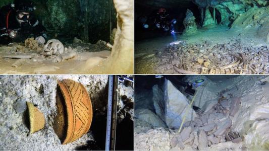 Artefatos maias encontrados na maior caverna subaquática do mundo