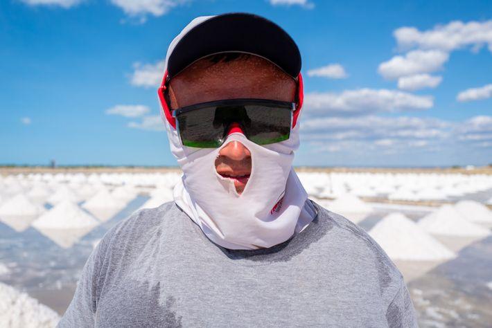 Retrato de trabalhador de selinas
