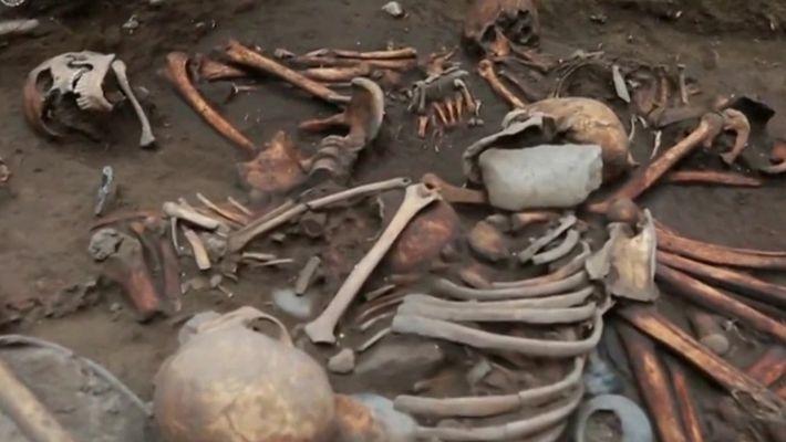 Esqueletos pré-astecas foram encontrados em formato espiral