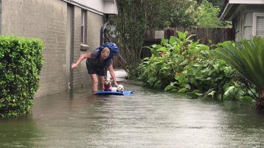 Fotógrafa documenta a própria luta contra o furacão Harvey