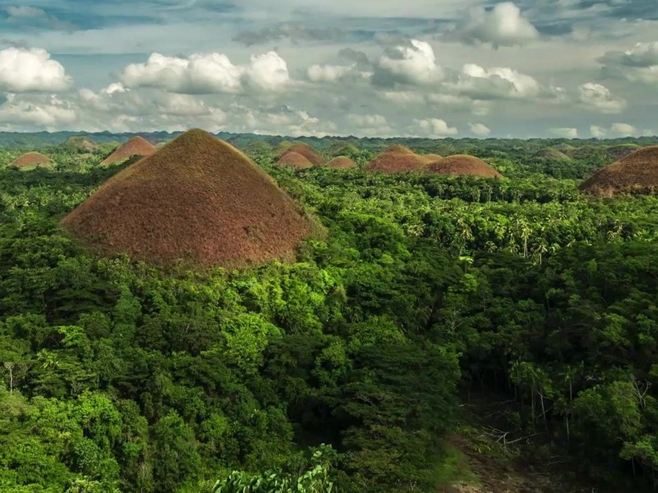 Admire as montanhas de chocolate das Filipinas