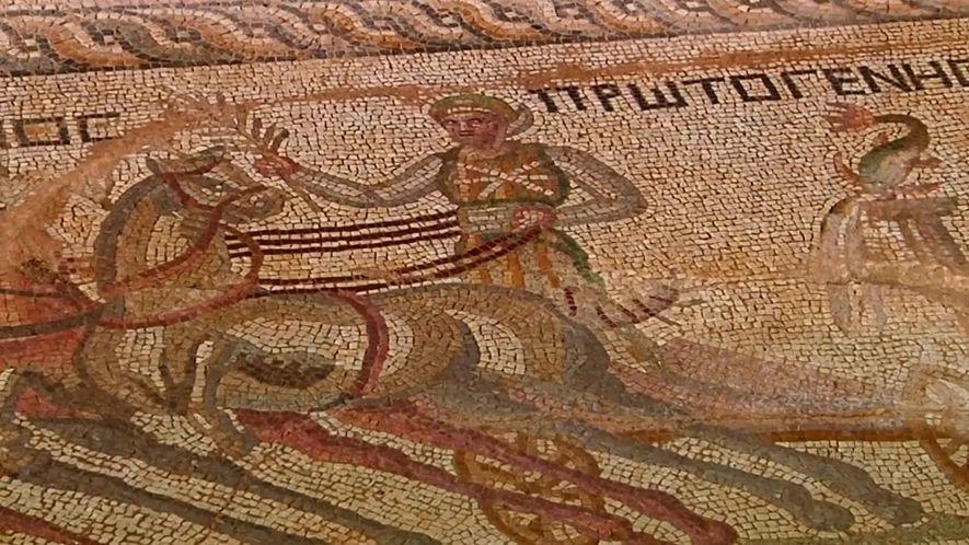 Mosaico do Império Romano é encontrado no Chipre