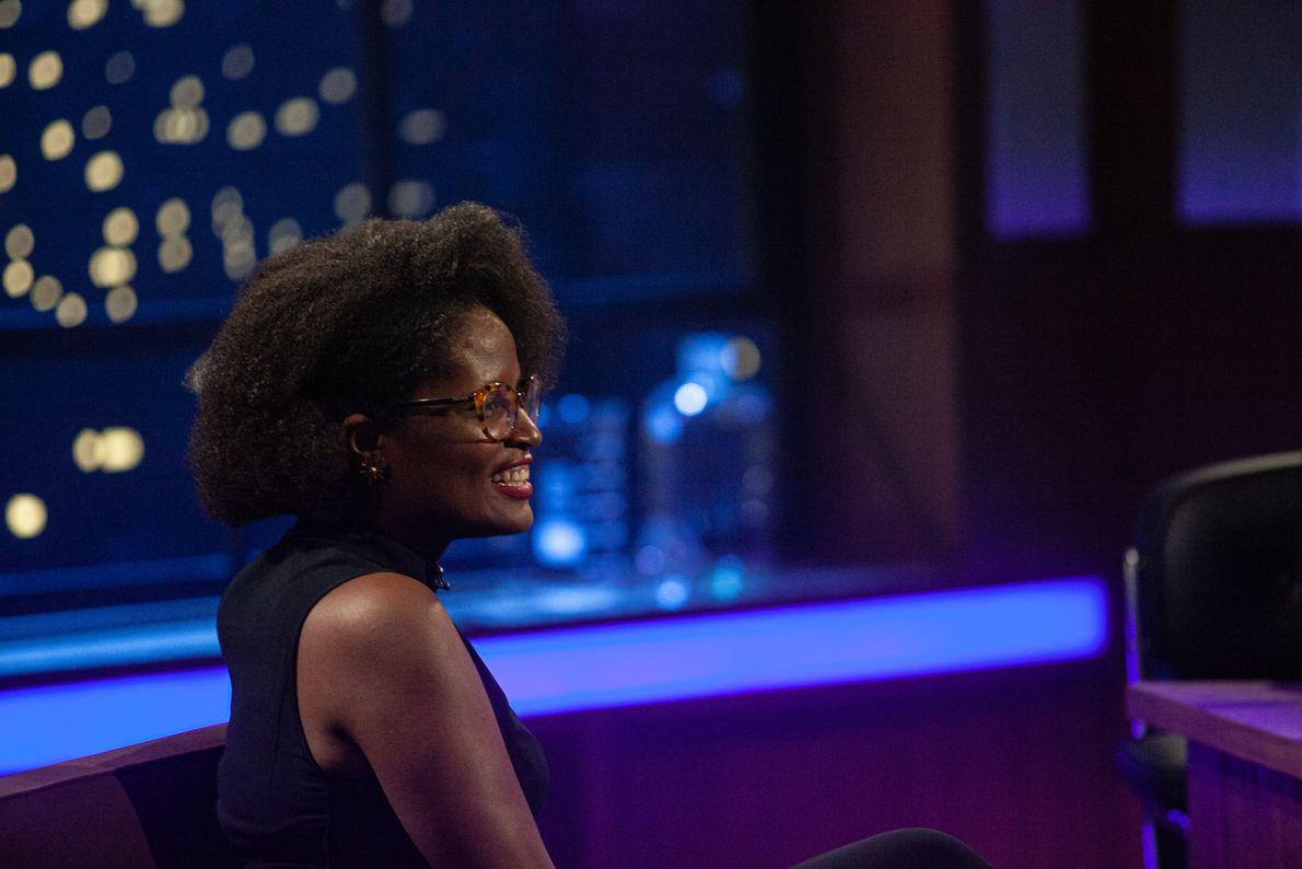 Flagramos um momento especial da filósofa Djamila Ribeiro no programa.