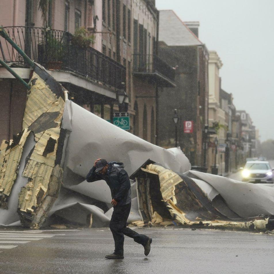 Tempestade, ventania e o impacto do furacão Ida na Louisiana