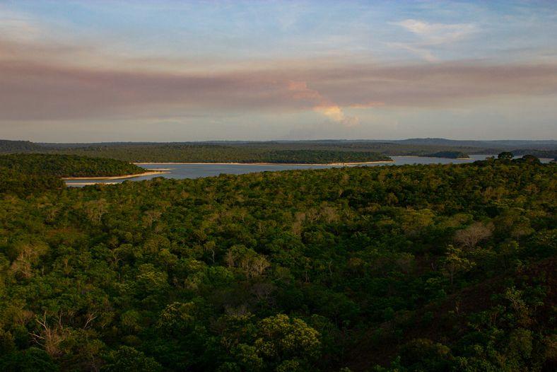 Floresta Amazônica em Alter do Chão, distrito de Santarém. Hoje um destino turístico, a região é ...