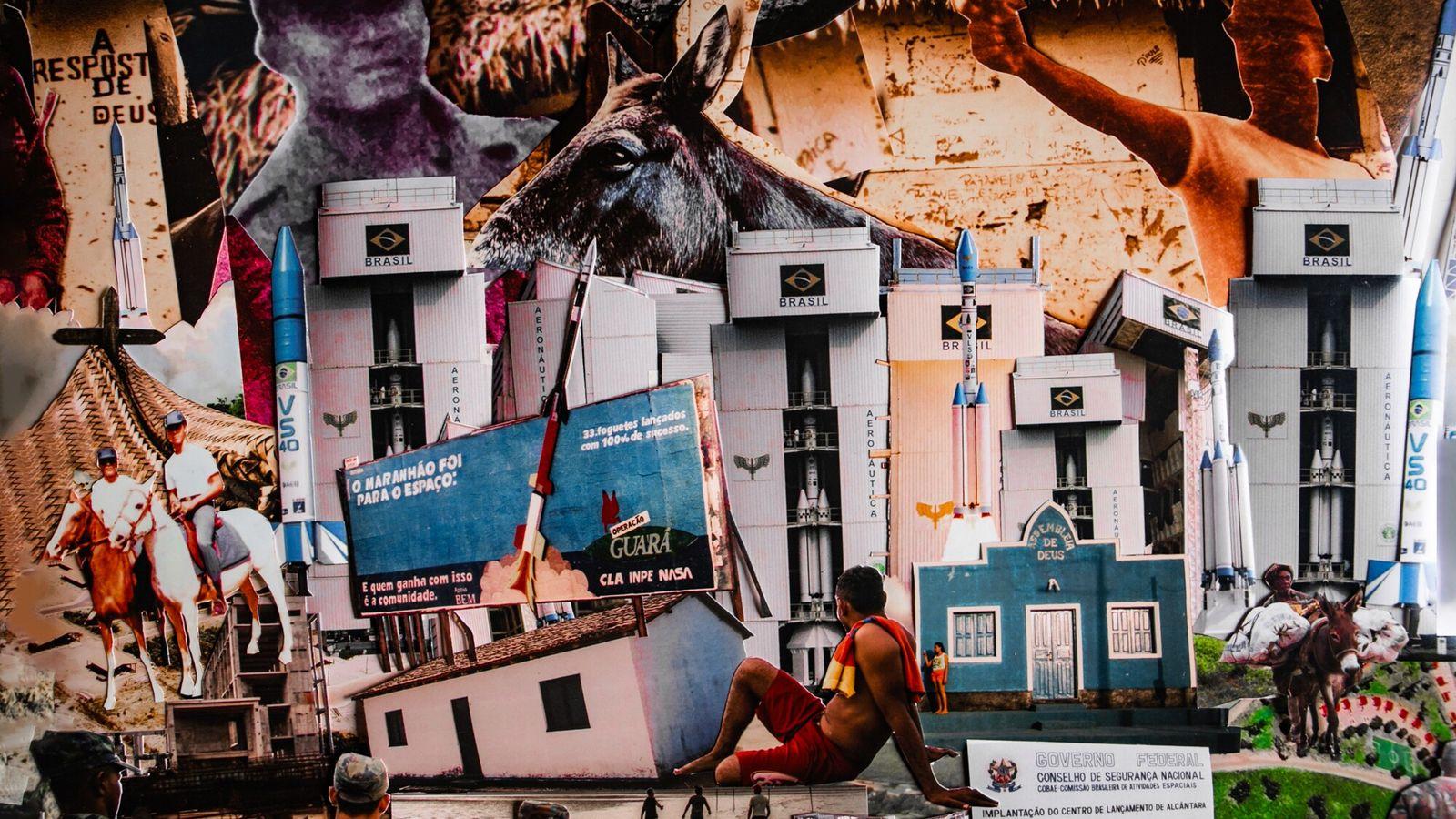 Colagem reúne fotos de arquivo do Centro de Lançamento Quilombola e entorno. A fim de expandir a ...