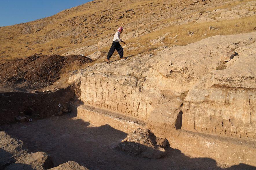 Cerca de 2,7 mil anos atrás, o canal fornecia água para as fazendas locais que ajudavam ...