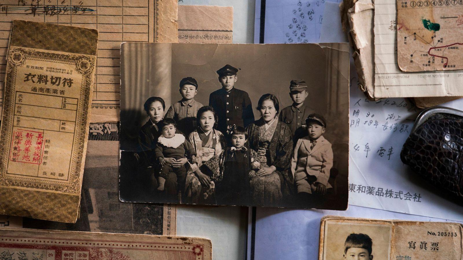 Joji Fukahori, de quatorze anos, estava estudando em sua escola secundária, a quase três quilômetros do ...