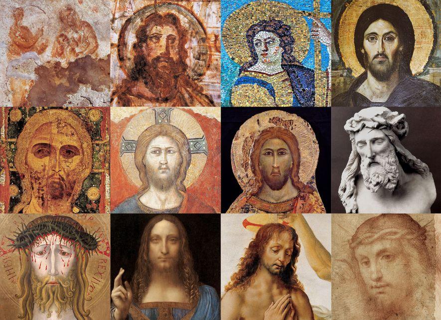Retratos de Jesus, de afrescos da era romana até a reconstrução forense moderna.