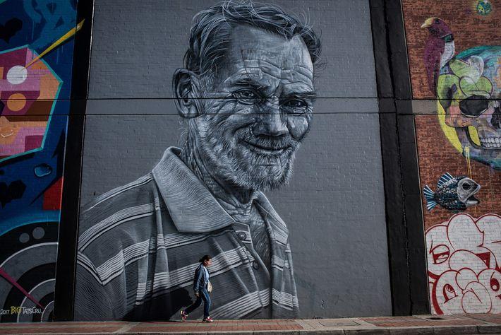 """Obras de arte de grandes proporções no """"Bairro do Grafite"""" pretendem encorajar a prática do grafite ..."""