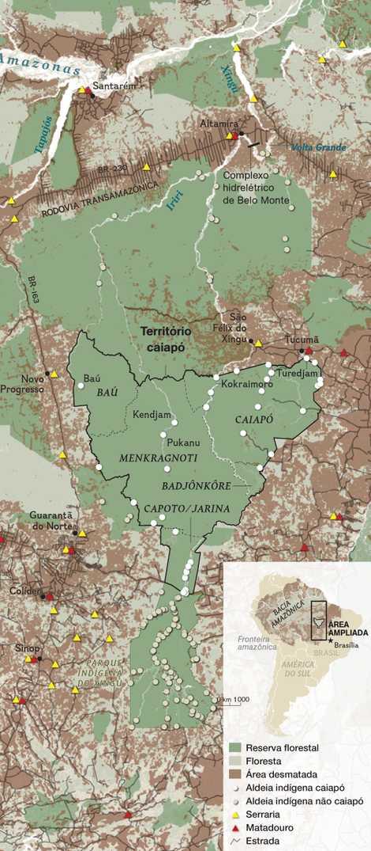 Abrangendo uma área um pouco maior do que a do estado de Pernambuco, as terras dos ...