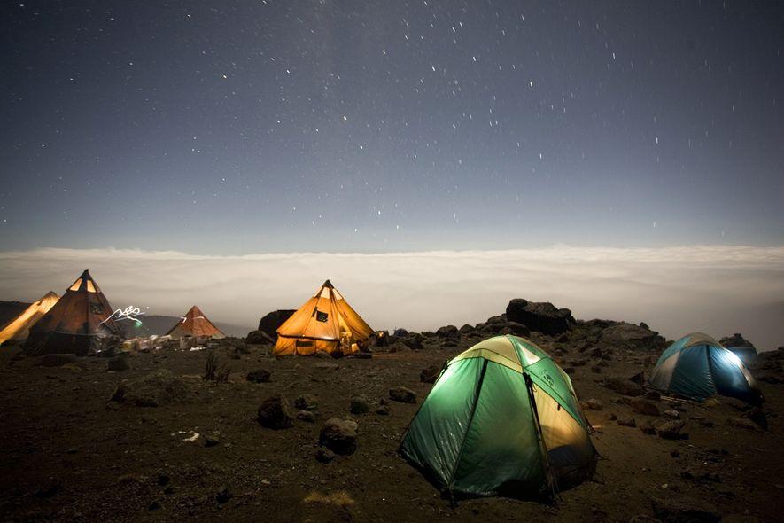 A maioria dos acampamentos tem belas vistas, mas seu corpo vai agradecer se você passar mais ...