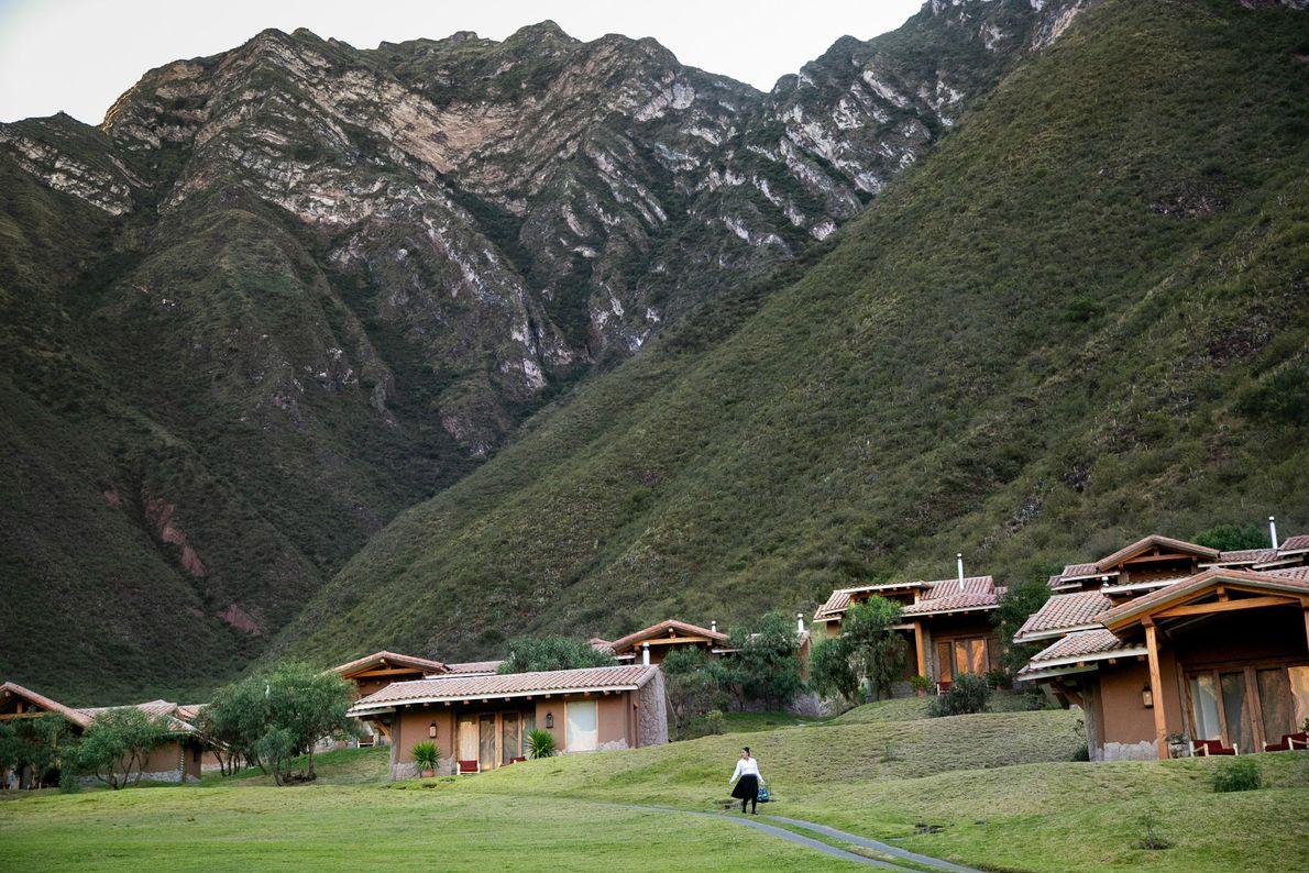 Casitas na Inkaterra Hacienda Urubamba, que fica no sopé das montanhas andinas.