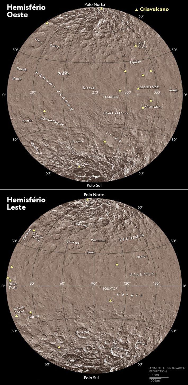 Crivulcões gelados entraram em erupção na superfície do planeta anão há milhões de anos.