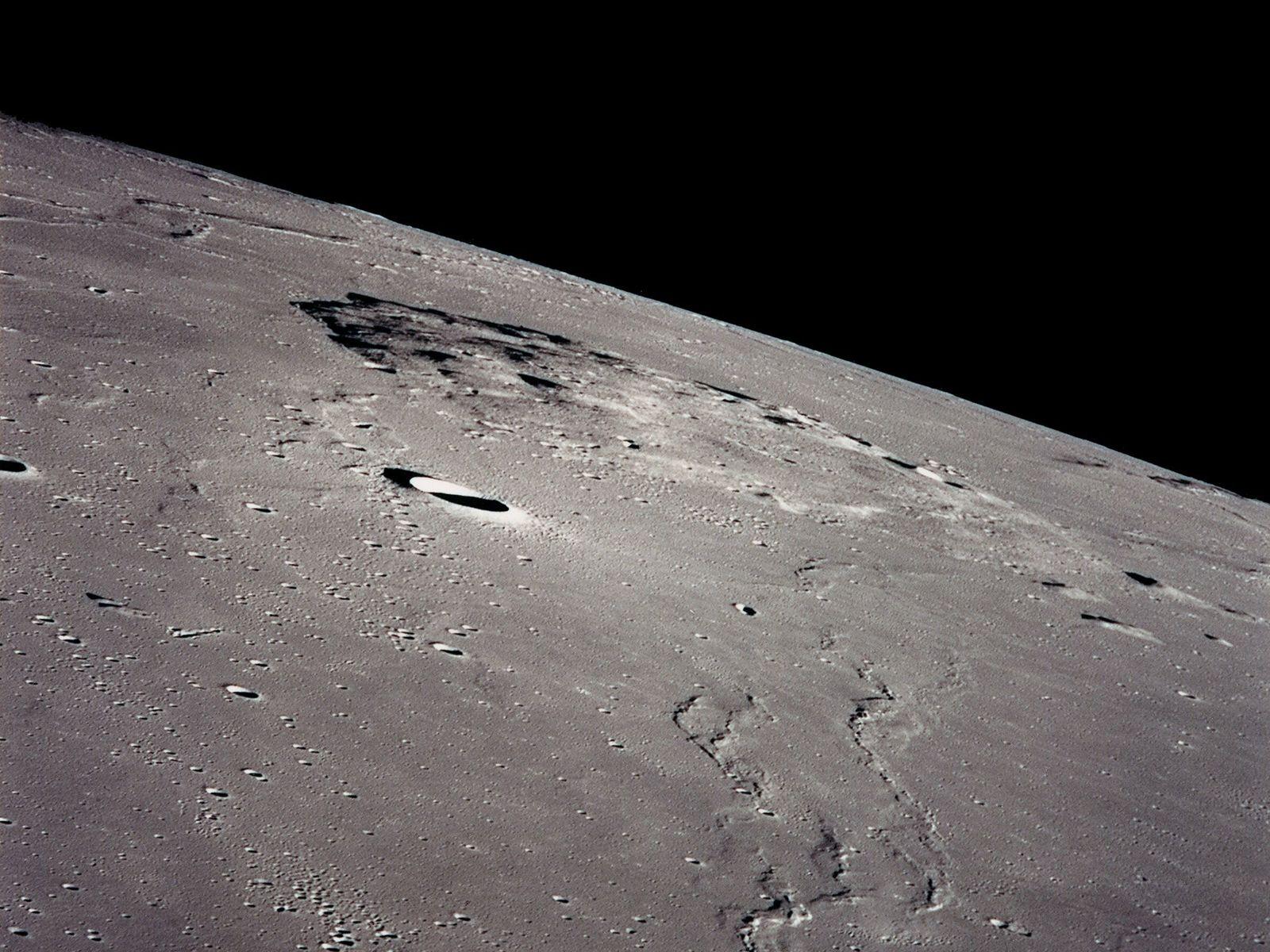 A sonda espacial chinesa Chang'e-5 pousou perto de Mons Rümker, monte vulcânico na região noroeste do ...