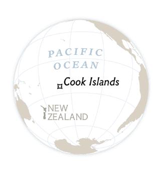 mapa Ilhas Cook