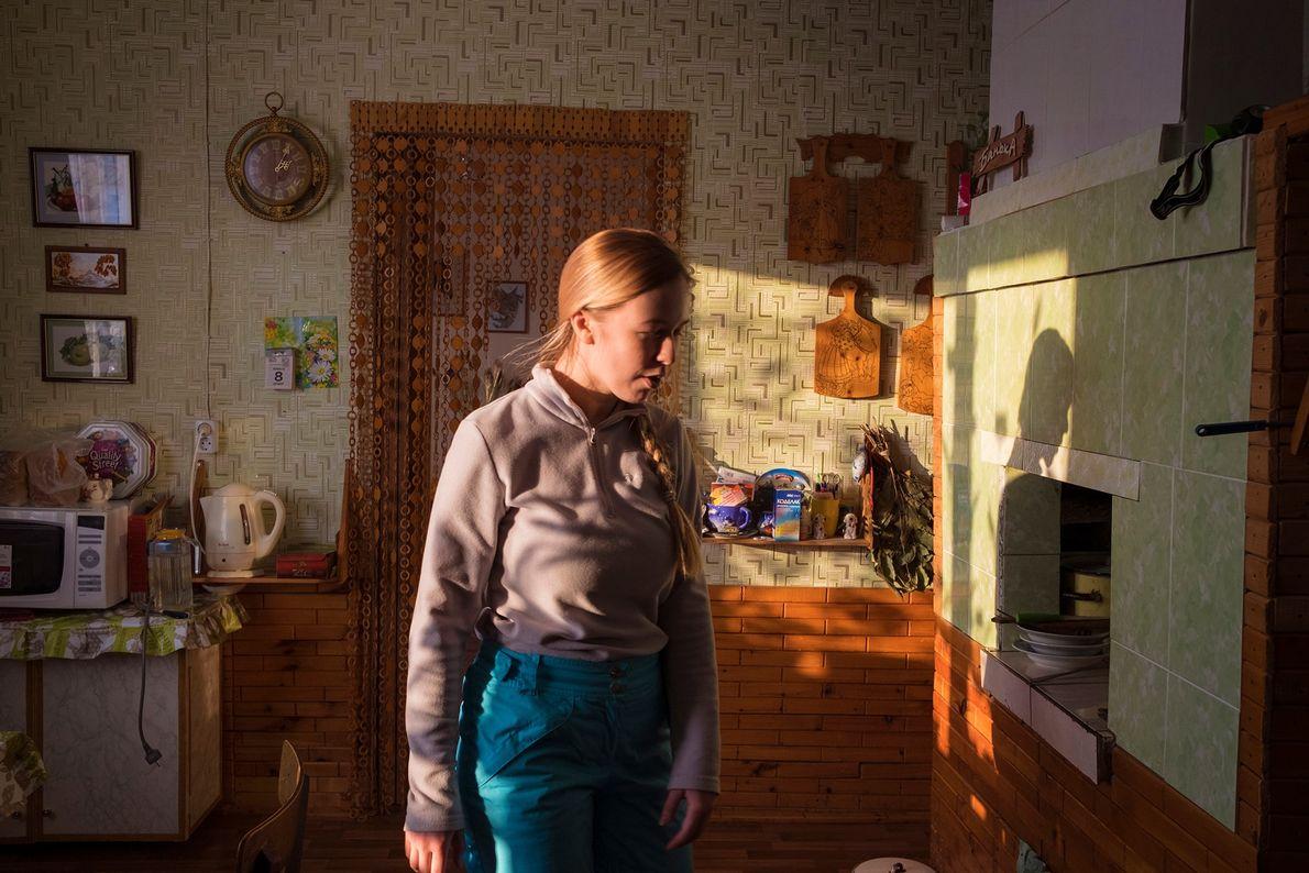 Arina Shirokaya, 23 anos, terminou seus estudos em Arkhangelsk, a maior cidade da região, e agora ...