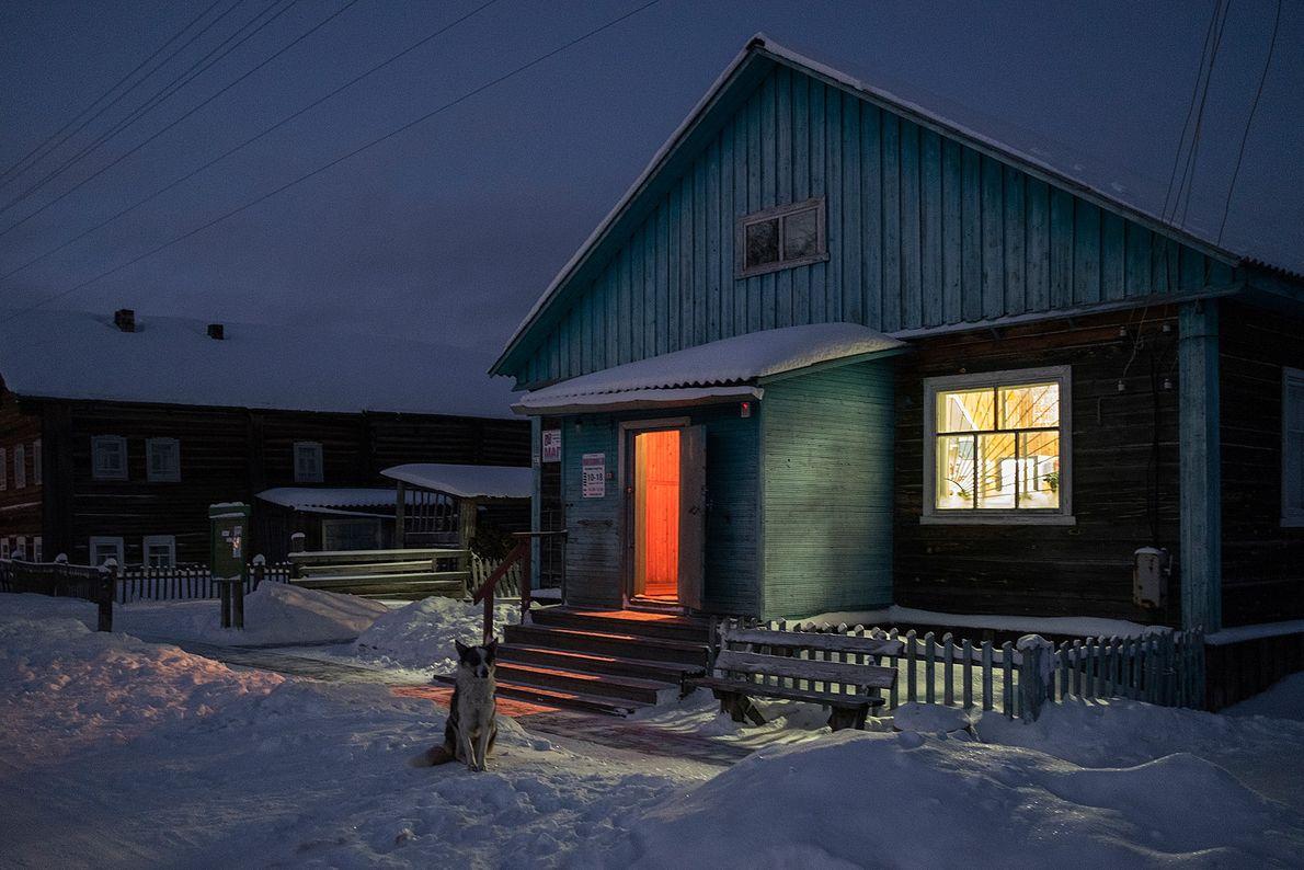 Cerca de 150 pessoas vivem no vilarejo de Sovpolie. No inverno, a maioria das pessoas se ...
