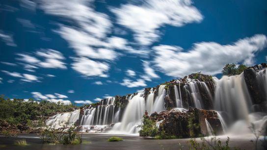 As cataratas dos Couros, no nordeste de Goiás, passou a ser área protegida no ano passado, quando ...