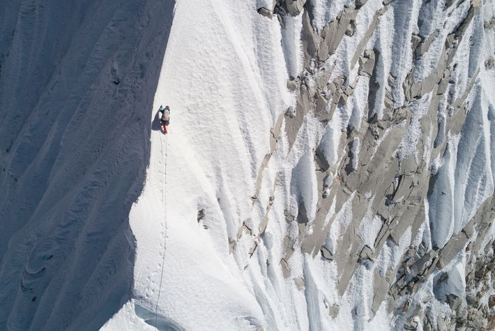 Lama climbs a ridge on his way to becoming the first person to stand on the ...