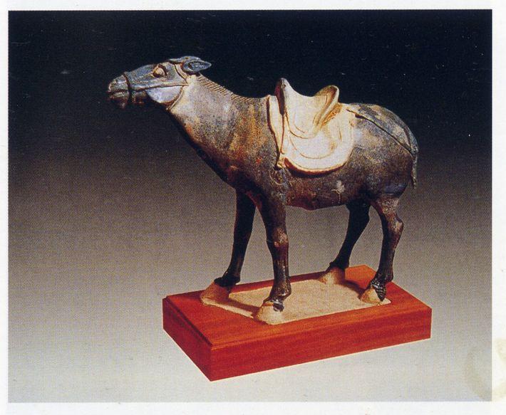 Estatueta de um jumento da era Tang.