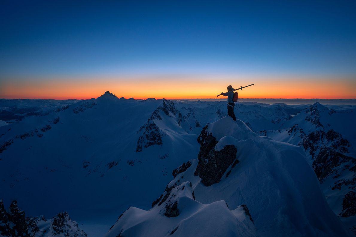 Esquiando em Sunnmøre