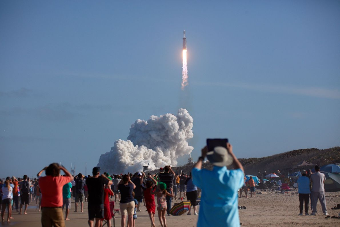 Lançamento do Falcon Heavy, da SpaceX
