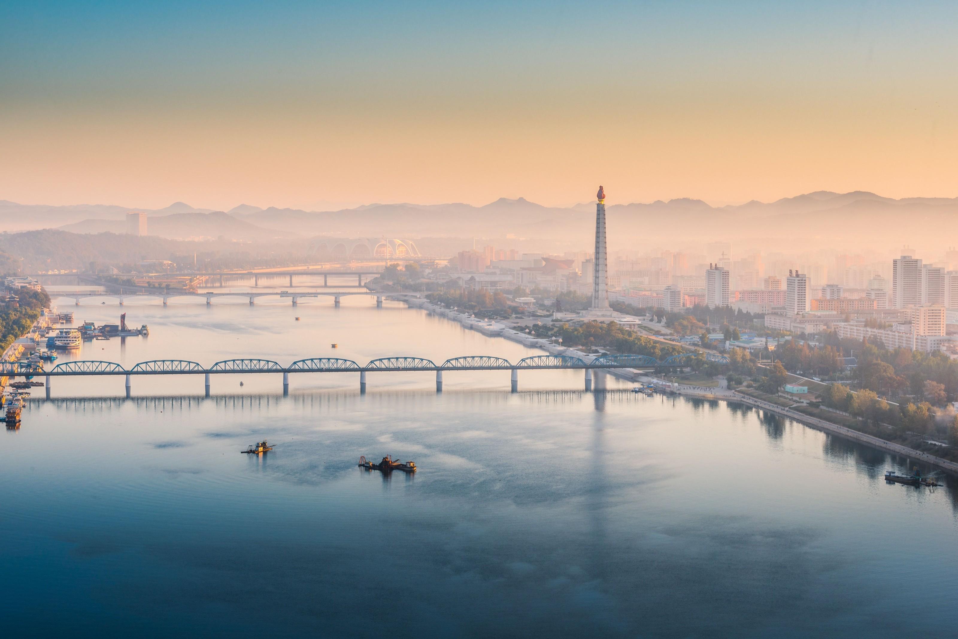 Manhã em Pyongyang