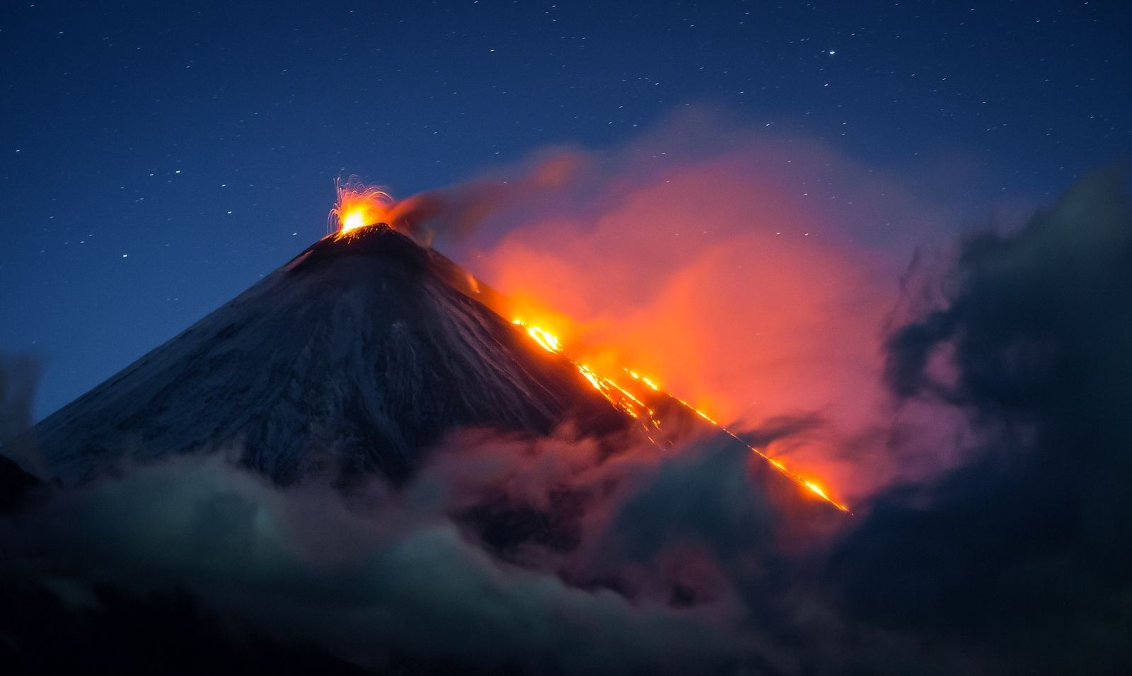 vulcão em erupção na Rússia