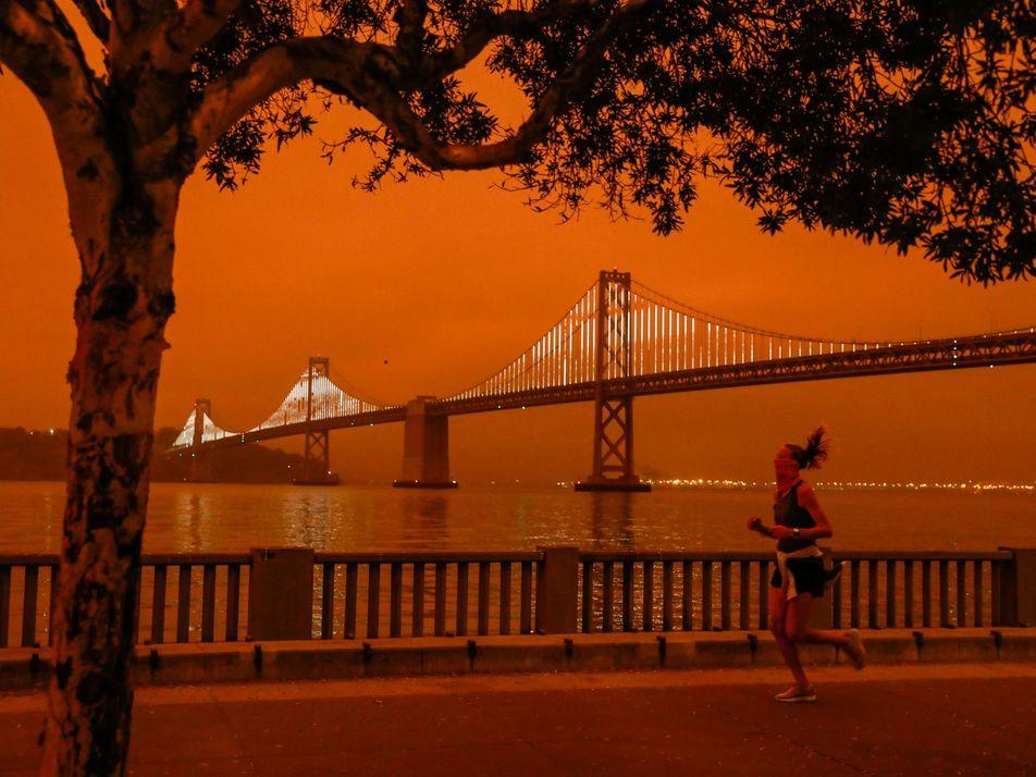 Fotos: céu alaranjado-sombrio assusta os moradores da Califórnia, nos EUA