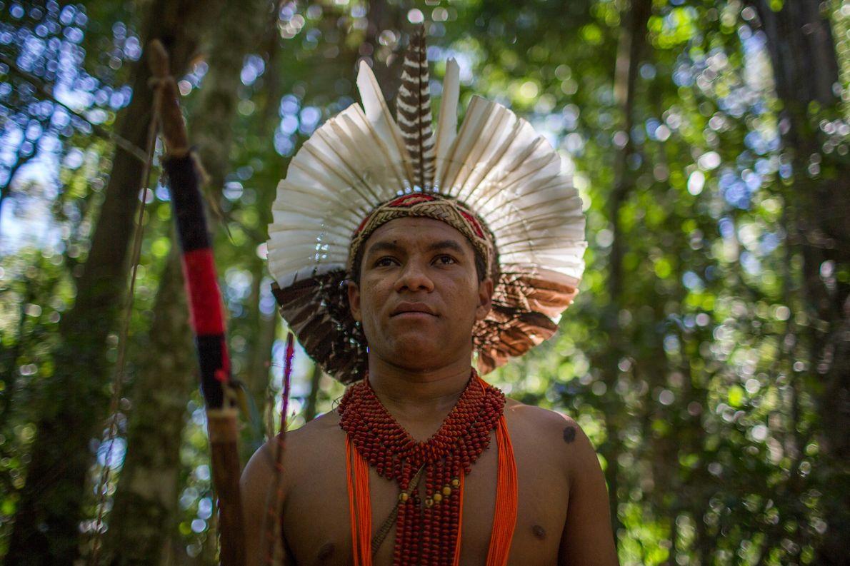 Airi Pataxó também é guia no Parque Nacional  e Histórico do Monte Pascoal.