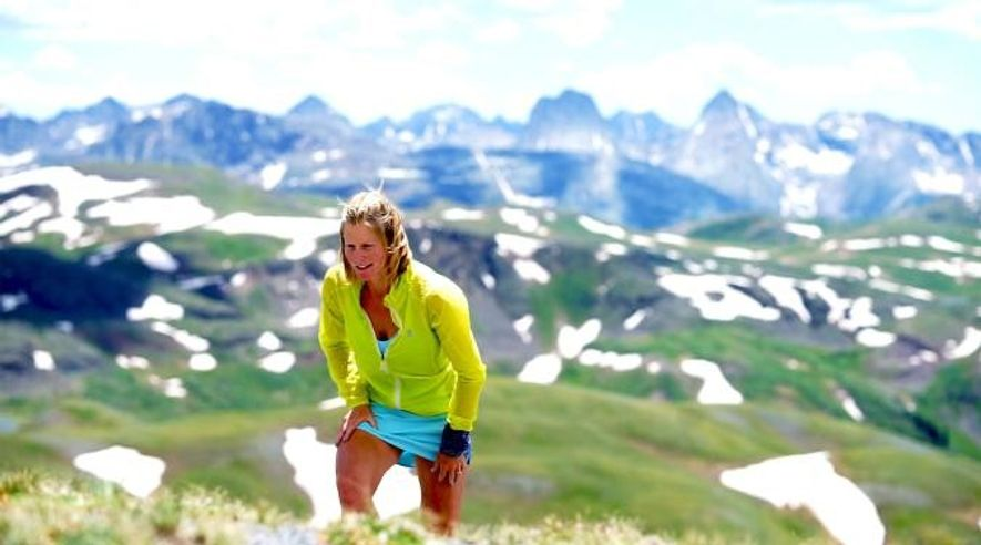A maratonista Anna Frost visita a Green Mountain para se preparar para o Hardrock 100 de ...