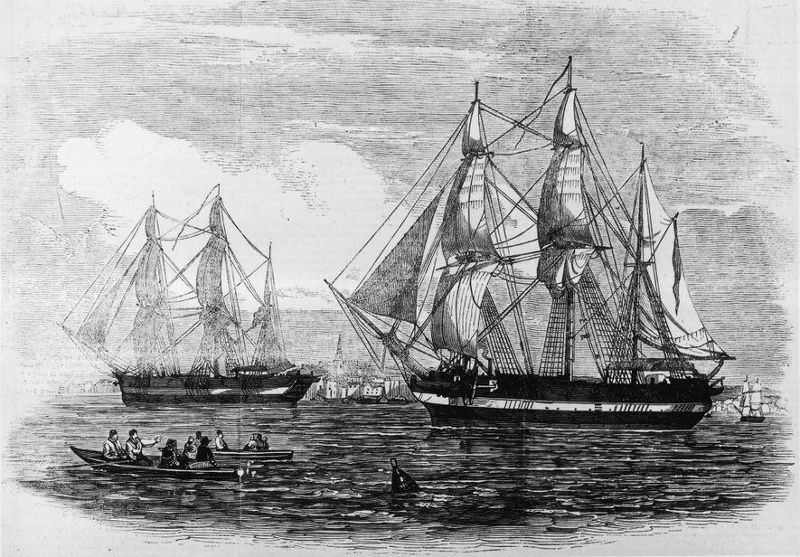 O H.M.S. Terror e o Erebus eram navios de última geração em 1845, quando a expedição ...