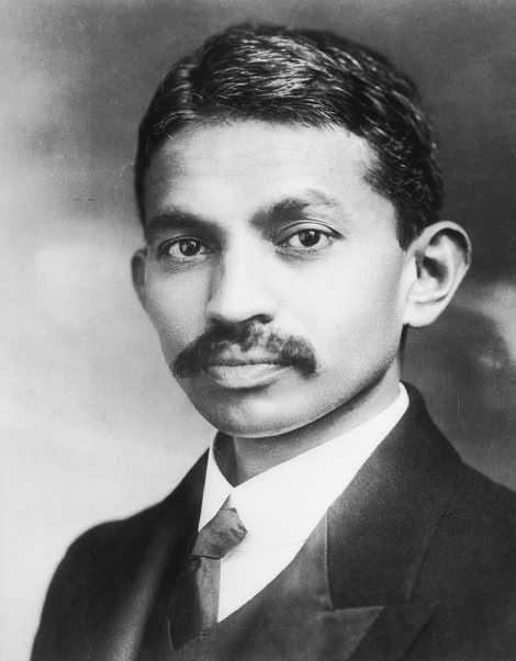 Retrato de Gandhi quando jovem.