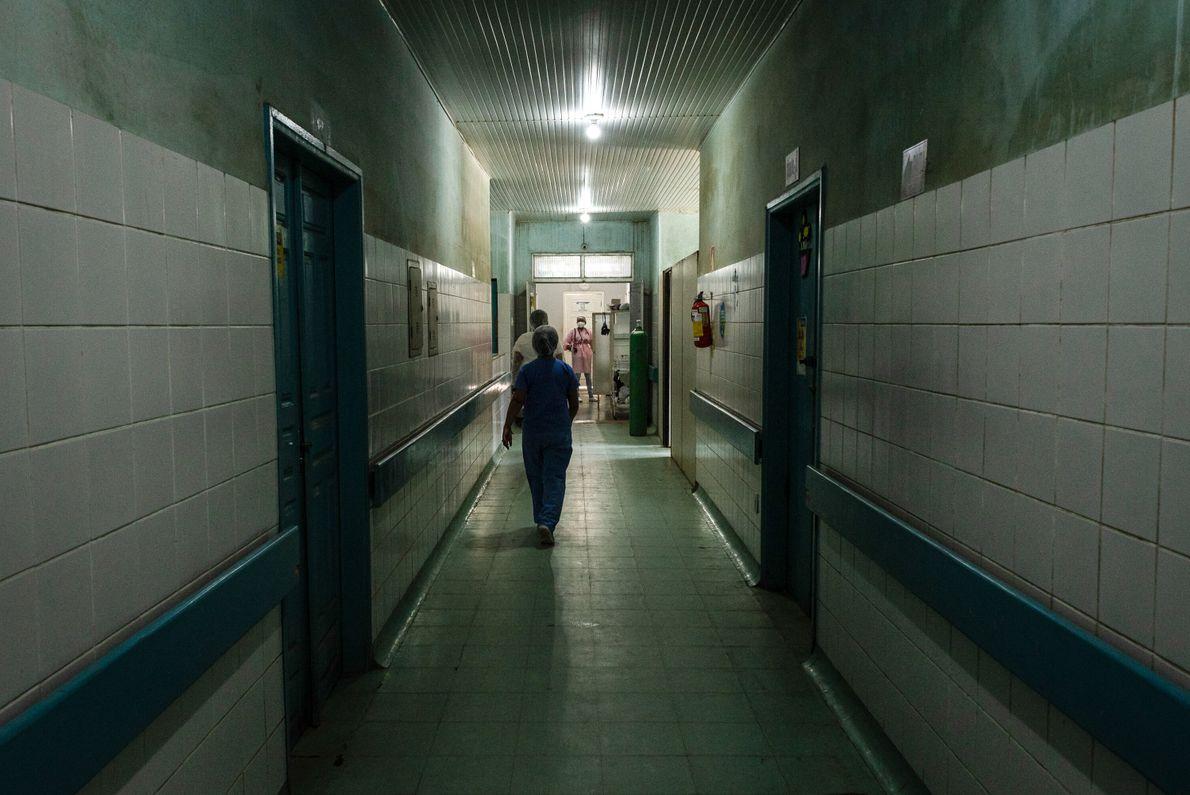 Hospital em Jacareacanga, um dos municípios com maior taxa de infecção por covid-19 do Pará. A ...