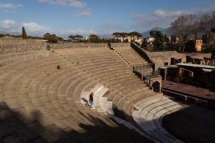 Na Itália, duramente atingida pelo coronavírus, atrações como o Parque Arqueológico de Pompeia tiveram uma queda ...