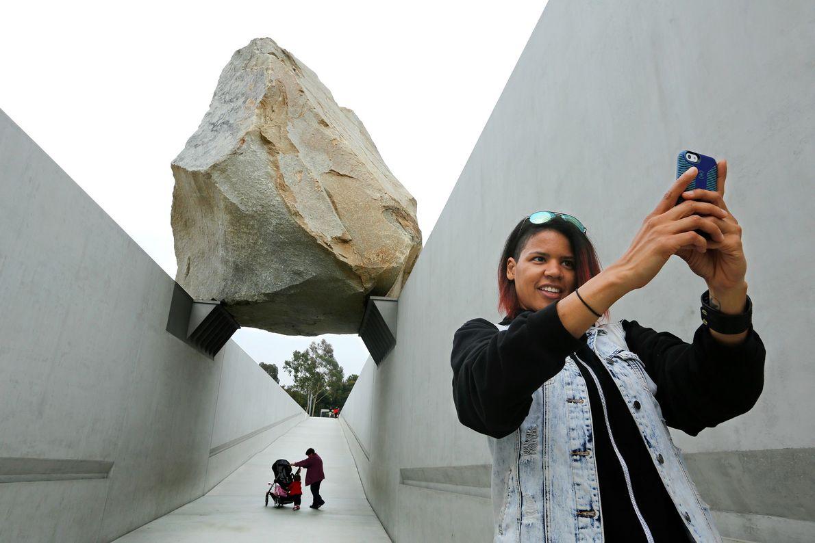 """Levitated Mass"" Los Angeles, CA."