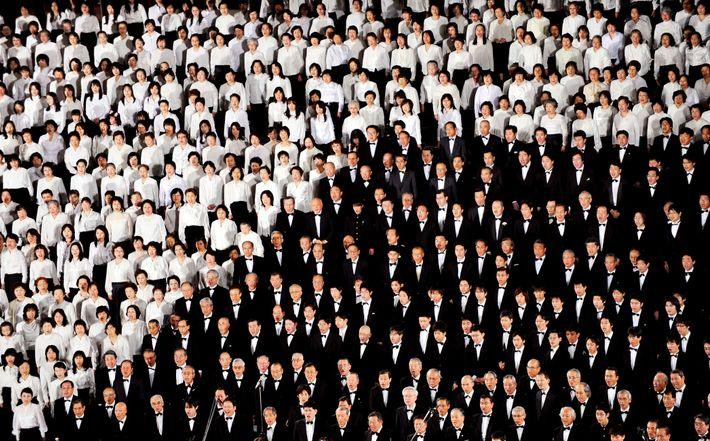"""Coristas de todo o Japão participam de grandes apresentações de coral de """"Ode à Alegria"""" de ..."""