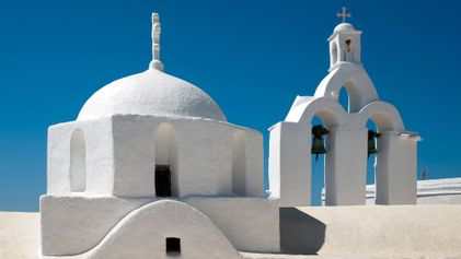 Desembarque nas ilhas onde a maior parte das estátuas gregas foi feita