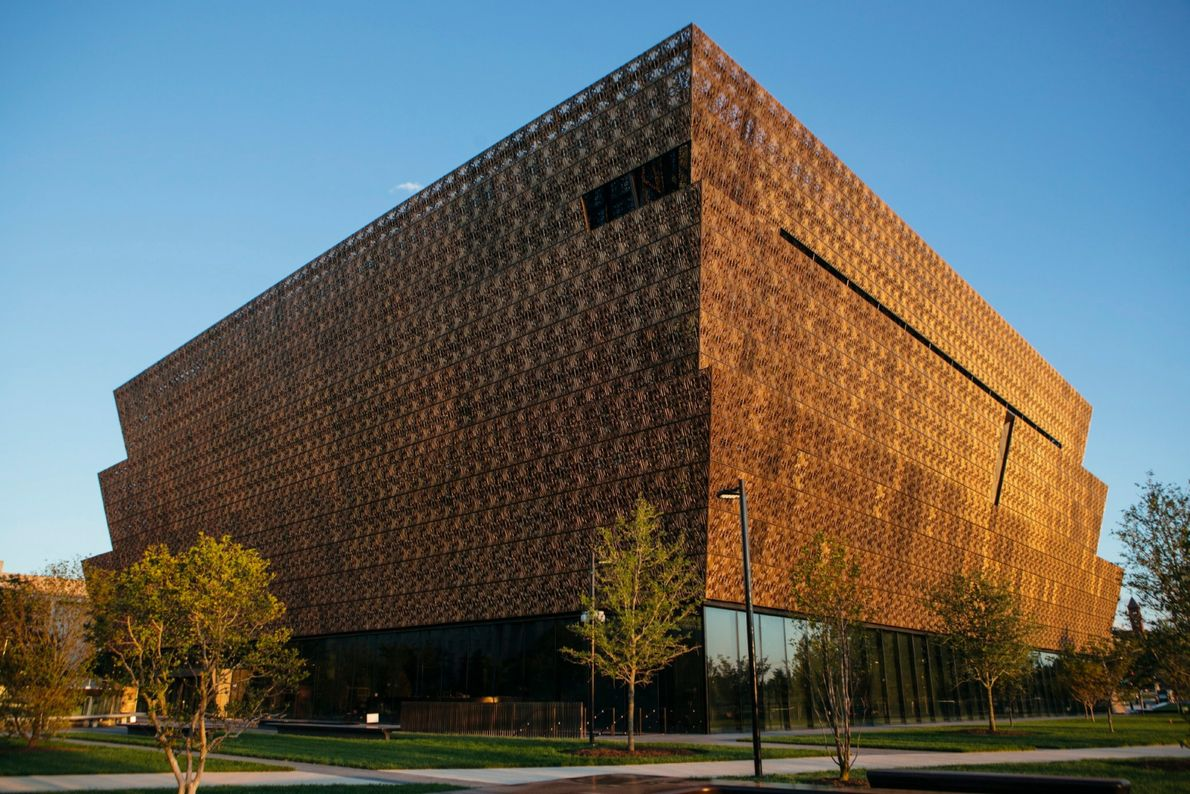The National Museum of African American History & Culture, on the National Mall in Washington.