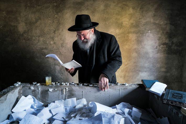 Após mapear seus 50 mil membros familiares, Yitz Twersky reza com emoção sobre o túmulo de ...