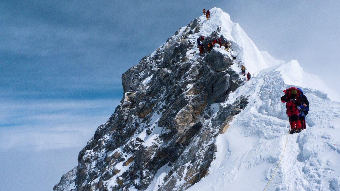 Degrau de Hillary  no Monte Everest, Nepal