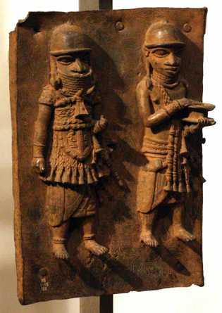 Fundidos nos séculos 16 e 17 por artistas do antigo Reino de Benin, agora pertencente à ...
