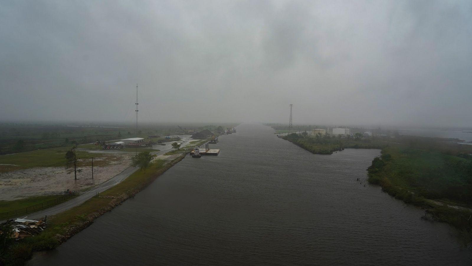 Furacão Delta a caminho da Costa do Golfo dos Estados Unidos no início de outubro de ...