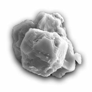 Esta imagem de microscópio eletrônico de varredura mostra um dos grãos datados nesse estudo. O grão ...