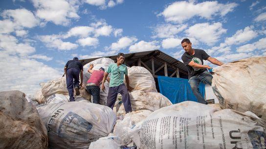 Cooperativa de reciclagem.