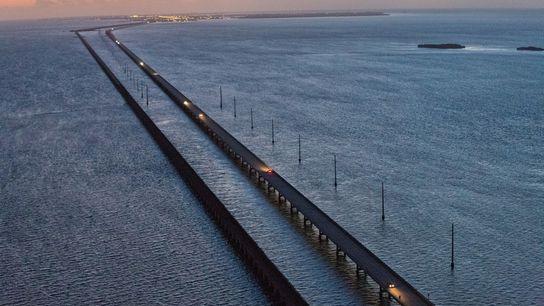 Six Mile Bridge, uma ponte que vai de Marathon Key para Key West, é como será ...