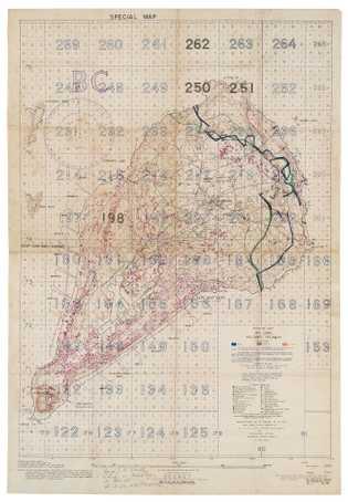 """Um """"Mapa de Alvos Especiais para Combatentes Aéreos e de Artilharia"""", compilado a partir de fotos ..."""